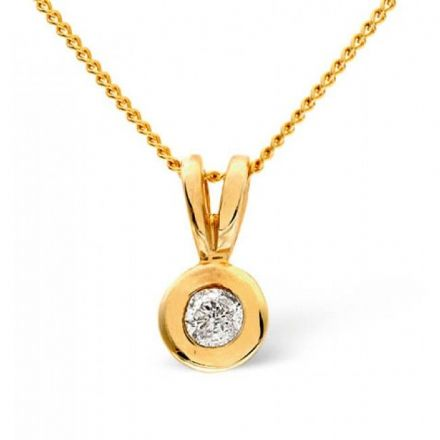 9K Gold 0.15ct Diamond Pendant, E1011